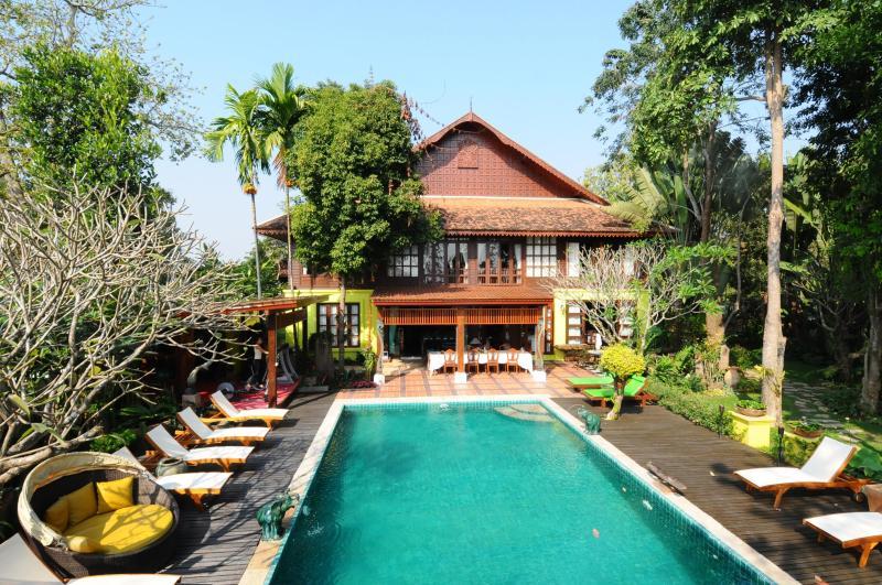 Main house as seen from first floor of Sala - Baan Cheep Chang or VillaChiangMai - Chiang Mai - rentals
