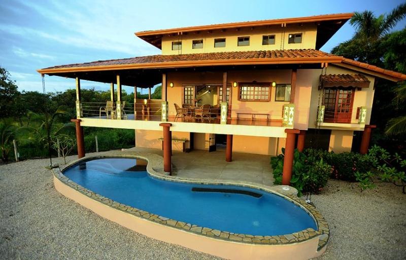 Pool and House from Beach Side - Casa Ventana-Secluded 2br Oceanfront & Pool - Playa Negra - rentals