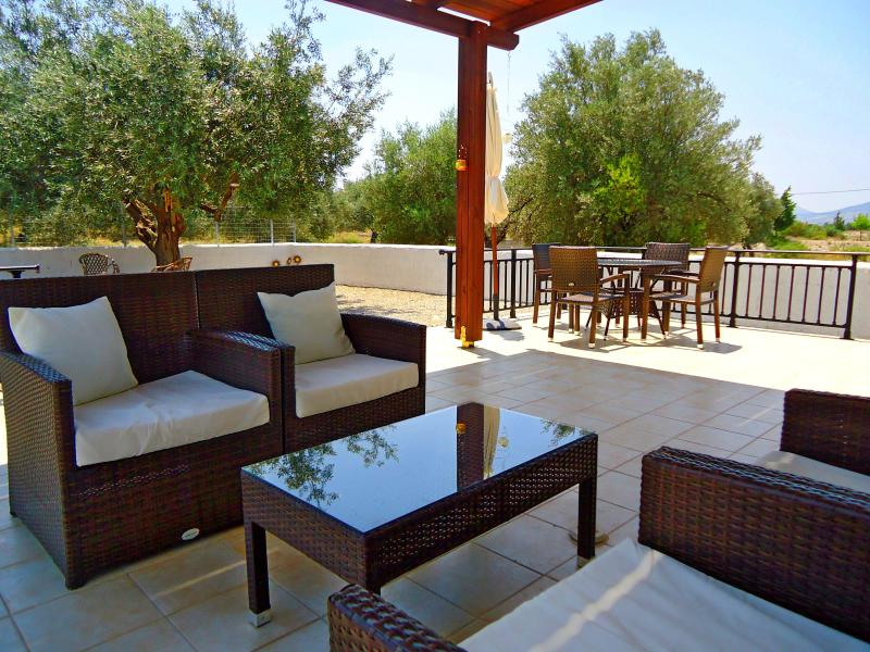 Our relaxing outside area - Olive Grove House, Haraki, Rhodes, Greece - Haraki - rentals
