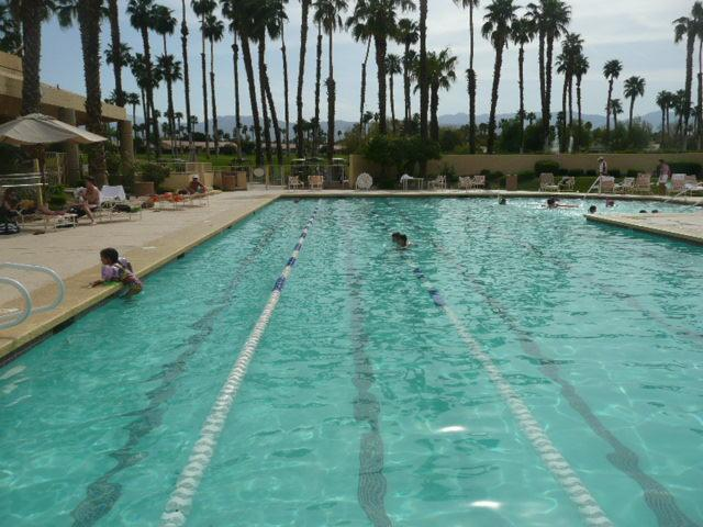 Clubhouse's Olympic Swimming Pool - just a 2 minute walk from condo...other 2 pools 30 second walk - Best Location, Best Country Club in Desert - Swim, Tennis, Fitness Center & Golf - Palm Desert - rentals