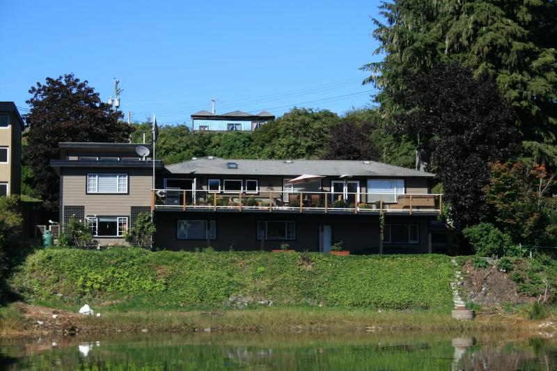 House from the water - THE MARINA B & B - Port Hardy - rentals