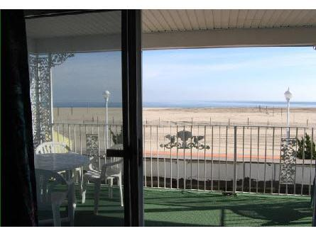 Balcony - Ocean Front 2-Room Suite Apt 6 at the Colony Apartments - Ocean City - rentals