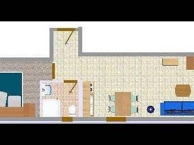 A34(2+2): floor plan - 2566 A34(2+2) - Biograd - Biograd - rentals