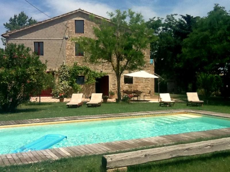 Casa Carlotta terrace & pool summer 2012 - 3 Bed Italian Farmhouse & Pool. Cingoli,Le Marche - Cingoli - rentals