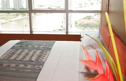 Jasmine  - bedroom - River corner one bdr, 29 floor jewel,near BTS,WiFi - Bangkok - rentals