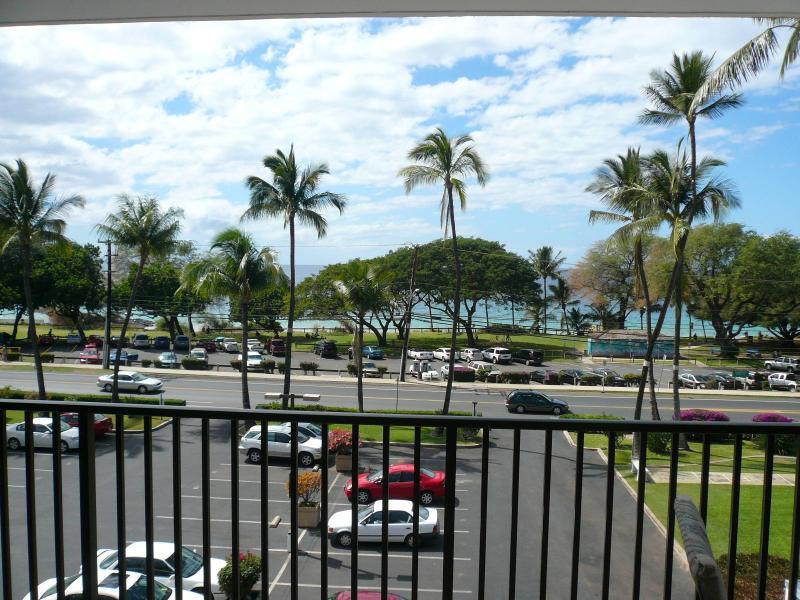 Beach from lanai - Maui Parkshore Ocean View, Renovated 2BR/2BA - Kihei - rentals