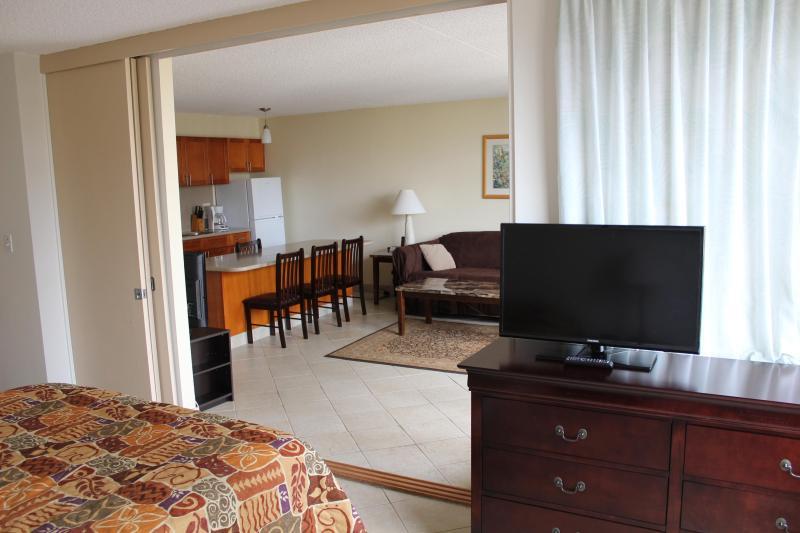 bedroom to living room/kitchen view - Waikiki Banyan One Bedroom Condo's/Free Parking - Honolulu - rentals