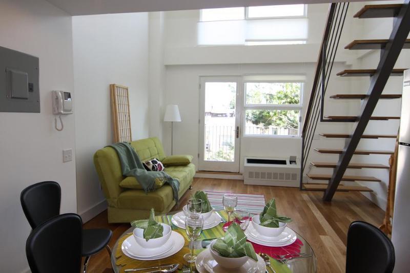 Interior of the duplex studio 4C - New Unique Designer Duplex Condo - Brooklyn - rentals