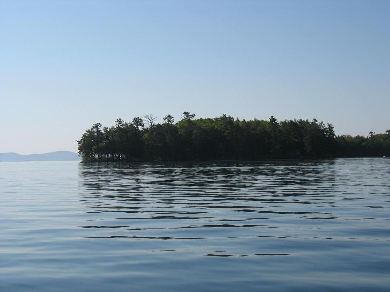 Little Camp Isl from Distance - Secluded - Lake Winnipesaukee N. H. USA, Little Camp Island - Gilford - rentals