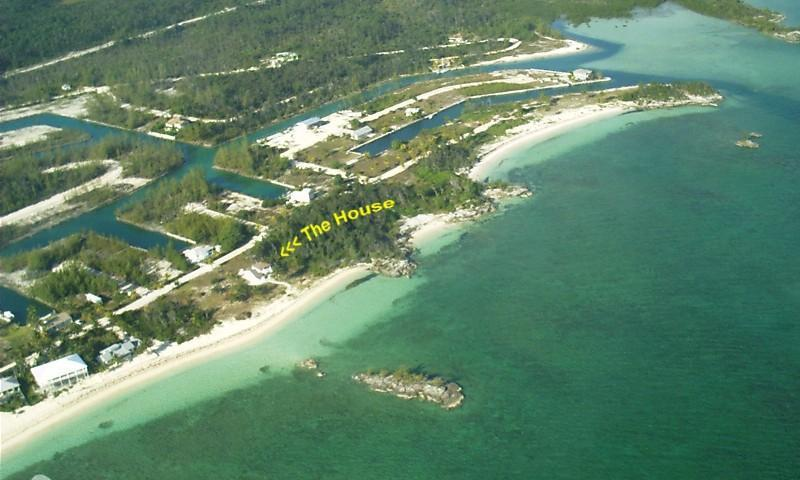 Arial of The Nutty Mermaid-Your Own Private Beach! - Private Beachfront Home The Nutty Mermaid  Bahamas - Marsh Harbour - rentals