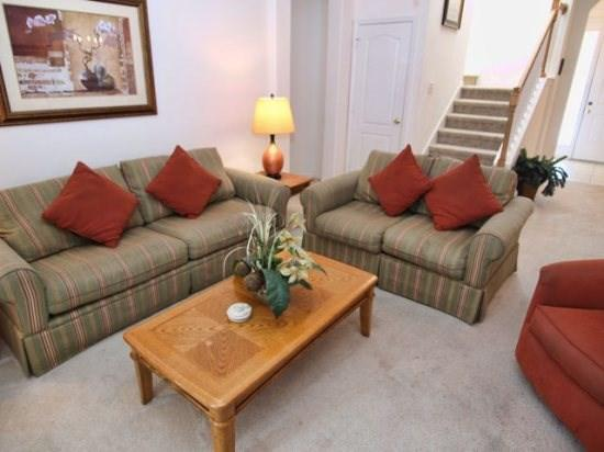 Living Area - TH4P648BD 4BR Florida Disney Pool Home with High Speed Internet - Davenport - rentals