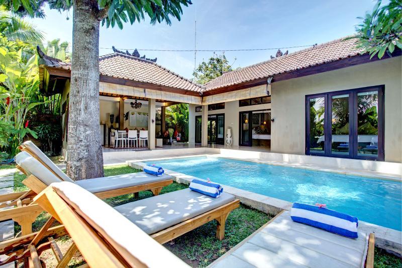 View to villa from the pool area - Villa Sitara, Seminyak - serene, chic pool villa - Seminyak - rentals