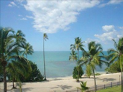 View of the beach from the main balcony - Beachfront Apt - On the Beach and Golf - Cabo Rojo - rentals