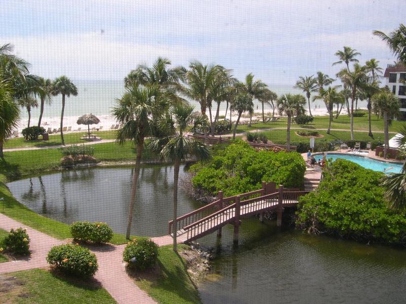 View from condo toward beach - Pointe Santo E31: Corner Unit Close to Beach - Sanibel Island - rentals
