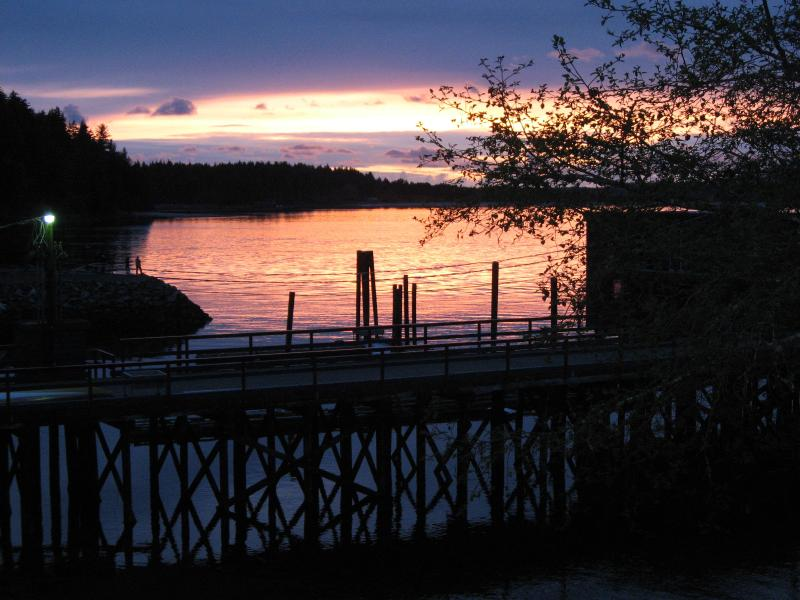 Sunset view from balcony overlooking Clayoquot Island - Tofino Waterfront Studio - Tofino - rentals
