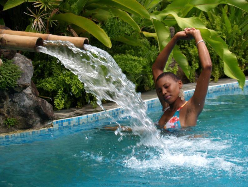 Paradise Pool at NATURE'S PARADISE - BANANA COTTAGE * Stunning  Views, Eco-Adventures * - Marigot Bay - rentals