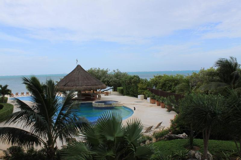 View from front balcony - Amazing Casa Bendicion Condo on Beach w/ Huge Pool - Isla Mujeres - rentals