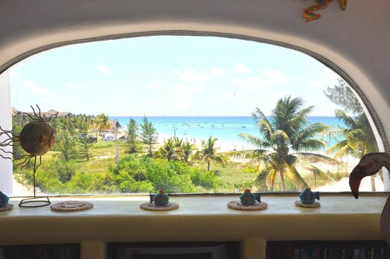 Livingroom View from the condo - Beachfront Condo with Amazing Ocean Views - NA301F - Playa del Carmen - rentals