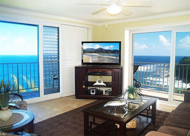 Alii Kai 4301: Gorgeous oceanfront top floor corner!  Beautiful inside. - Image 1 - Princeville - rentals