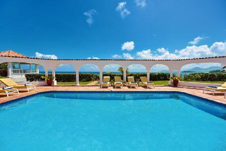 Serena - Elegant beachfront villa with spacious interior, large pool & beautiful views - Image 1 - Terres Basses - rentals