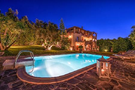 Hilltop Bozonos Luxury Villa- enchanting sea view with tranquil garden- pool - Image 1 - Akrotiri - rentals