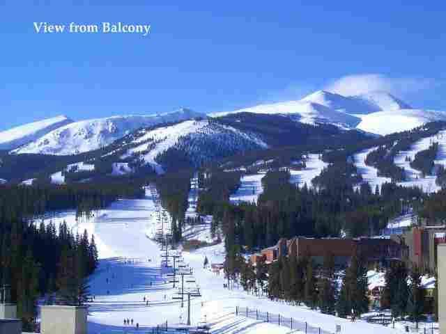 View from Balcony/Master Bedroom & Living Area - Ski In/Ski Out Penthouse! Amzing Views! Walk2Town - Breckenridge - rentals