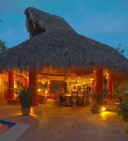 Main Palapa: Dusk - Luxury Villa on Riviera Nayarit North of Sayulita - Platanitos - rentals