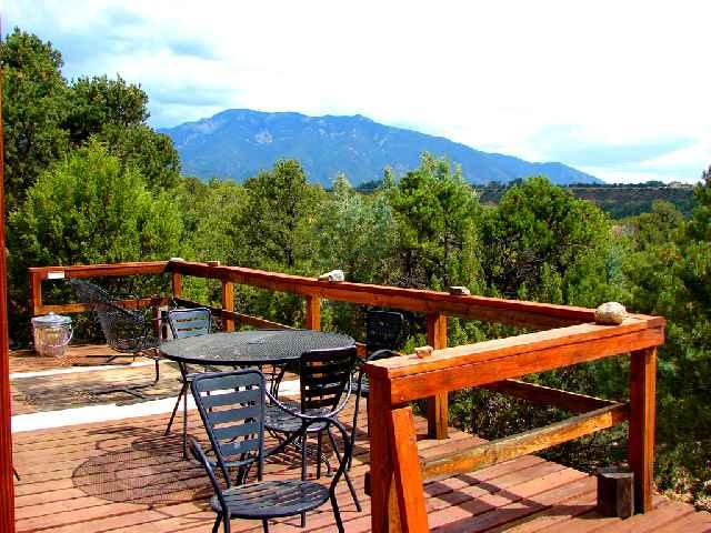 Private south facing deck offers sweeping mountain and valley views - Casa La Ceja Compound - Taos - rentals