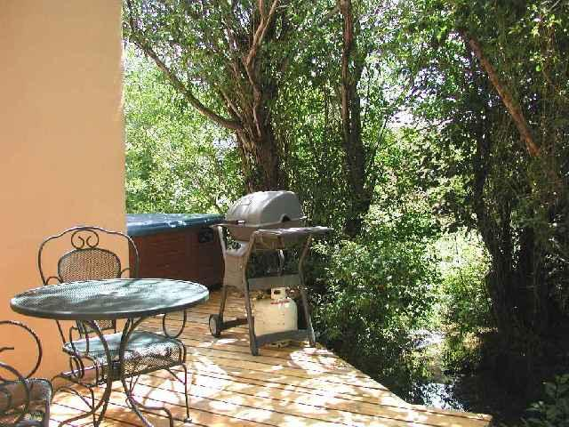 Private hot tub on deck with gas grill and patio table/chairs - Casa Bella Cabin / Casita - Taos - rentals