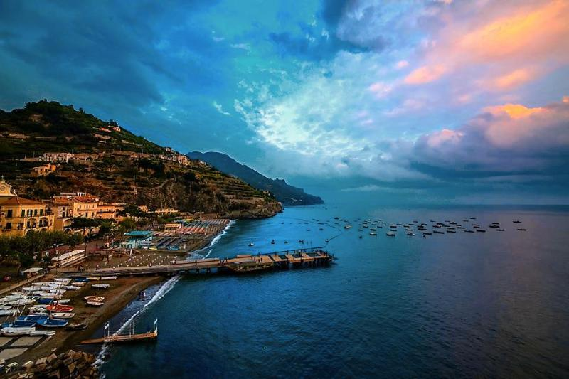 View of Minori town - Ciliegia-Sea view/few steps from the sea - Minori - rentals