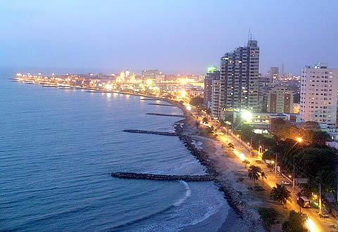 Evening View - Luxor Infinito Beach Front Luxury in Bocagrande Accomadates 9 Guests - Cartagena - rentals