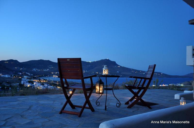 Night sea view from the terraced area - Anna-Maria's Mykonos Sea-view Maisonette II - Mykonos - rentals