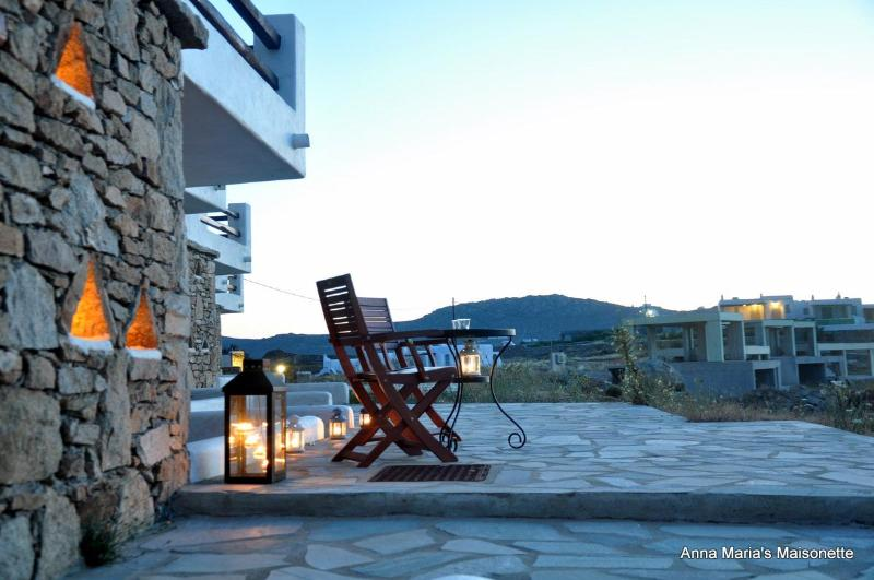 veranda by sunset - Anna-Maria's Mykonos Seaview Maisonette I - Mykonos - rentals