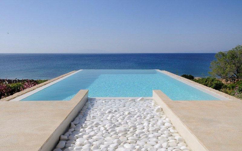 Private Swimming Pool - Makria Miti Luxury Seafront Villa 2 - Paros - rentals