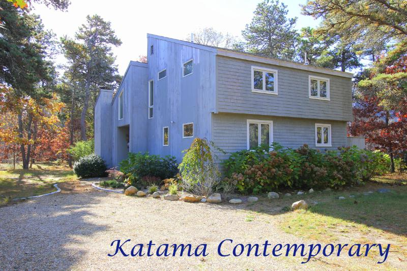 Driveway and Entry Side of House - GATTA - Katama Area, 1.5 mi to South Beach, Spacious Contemorary Home, Deck and - Edgartown - rentals