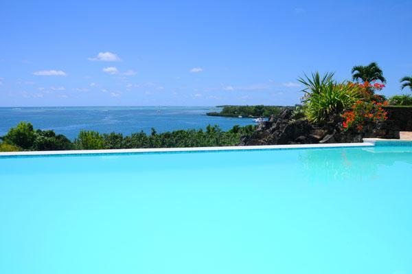 overflow pool and seaview - Villa de la Baie - Trou d'eau Douce - rentals