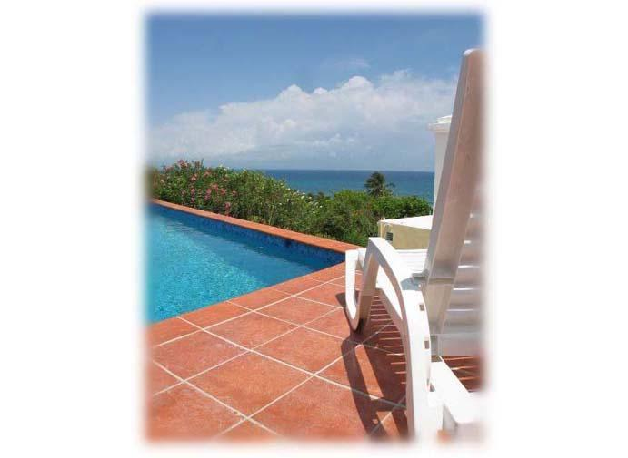 View to Main Island of Puerto Rico from pool deck. - La Roca ...The Best Views In Vieques - Isla de Vieques - rentals