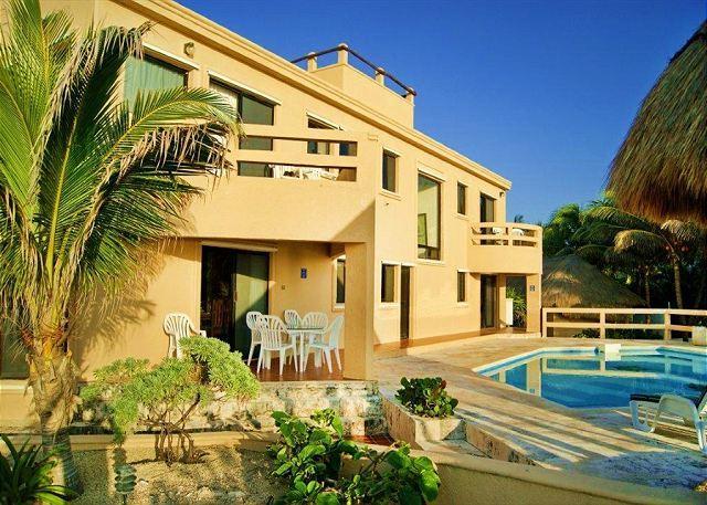 Nicte Ha Ocean Front Pool Area - Villa Nicte-Ha - Akumal - rentals