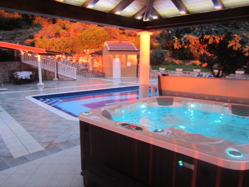 Pool with gazebo and hot tub - Villa Izvor - Luxury Dubrovnik Hillside Villa with - Dubrovnik - rentals