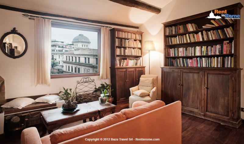 Living room - Teatro Marcello - Rome - rentals