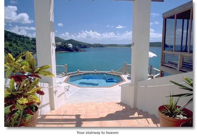 stairway - Rendezvous by the Sea -- Stairway to Heaven - Cruz Bay - rentals