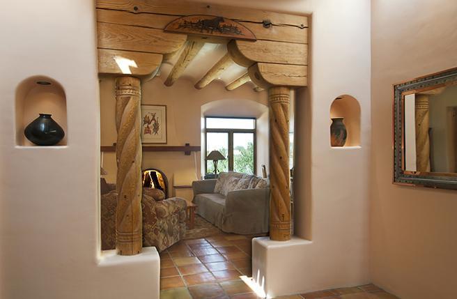 North Hills Casa Living Room Entry - North Hills Casa - Santa Fe - rentals