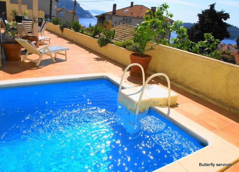 Enjoy the pool and the magical views of the Adriatic Sea - Great 3BR with Terrace Pool and Spectacular Views! - Dubrovnik - rentals
