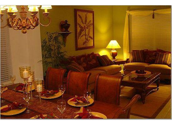 Living Room Dining Room - The Emerald Star - FLIPKEY's Top Vacation Villa!! - Kissimmee - rentals