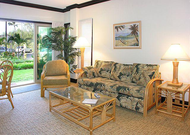 Waipouli #A-103:  Ground Floor 2bdr/3bath, Old Hawaii with Bamboo motif - Image 1 - Kapaa - rentals