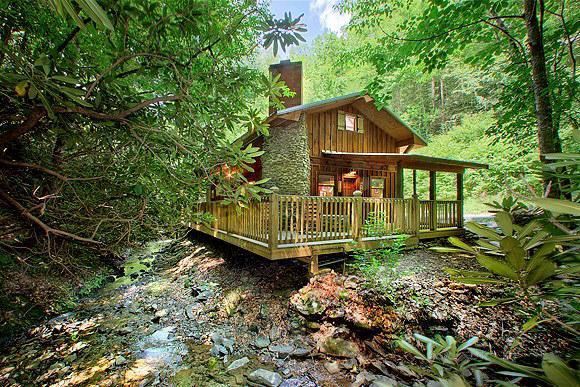 PC-Cottage-by-Creek-ext - Cottage on a Creek - Gatlinburg - rentals