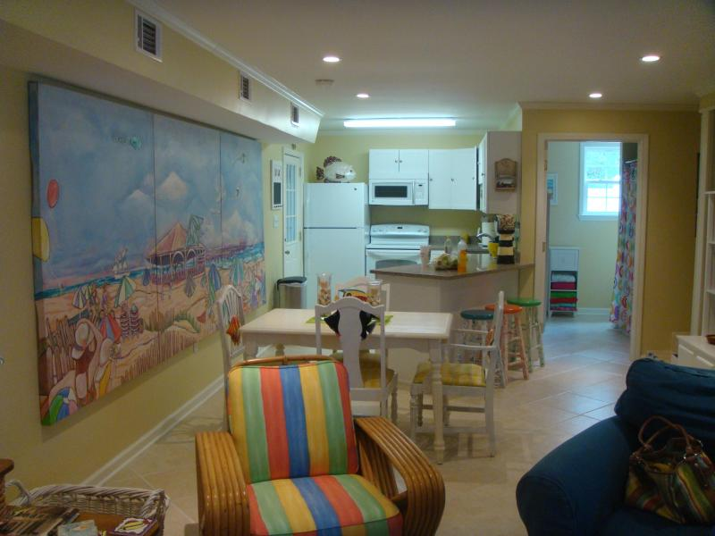 Looking from the den to kitchen - Life is Good At the Beach - Sun, Sea, Surf!! - Tybee Island - rentals
