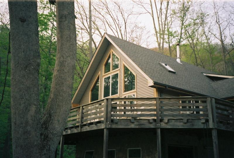 Exterior from southeast - Secluded Asheville area mountain vacation rental - Asheville - rentals