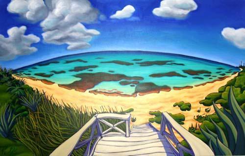 Artist Depiction of Aqua Vista Beach - Aqua Vista - Beach Front with Breathtaking View - North Palmetto Point - rentals