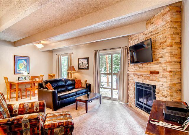Columbine Living Room Breckenridge Lodging - Columbine 106 Condo Downtown Breckenridge Vacation Rentals Colorado - Breckenridge - rentals